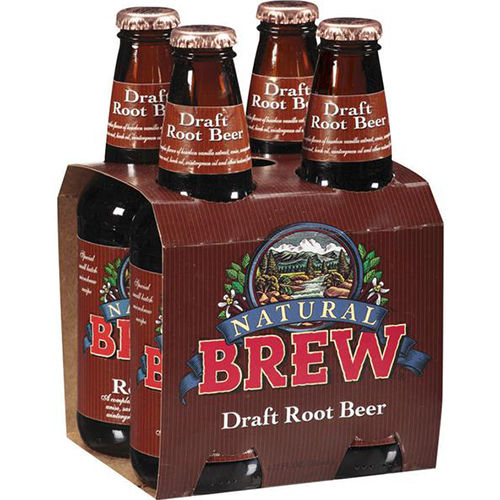 NATURAL BREW - DRAFT ROOT BEER - 12oz(4PCK)