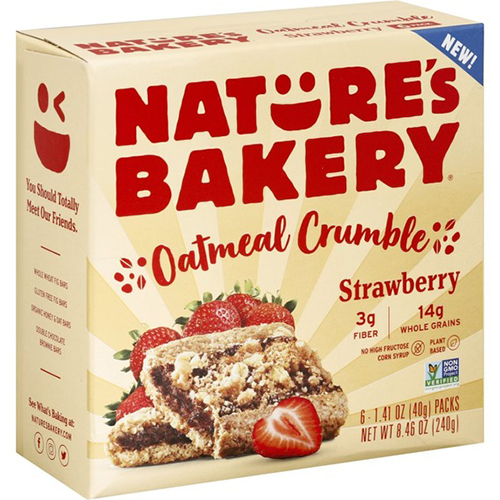 NATURE'S BAKERY - OATMEAL CRUNCH (Strawberry) - 8.46oz