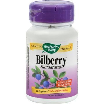 NATURE'S WAY - BILBERRY STANDARDIZED - 60 Capsules