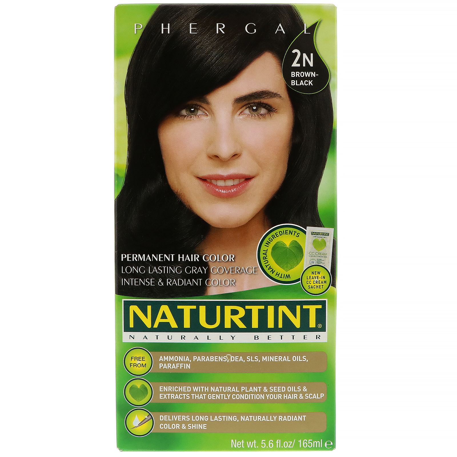 NATURTINT - PERMANENT HAIR COLOR - (2N - Brown Black) - 5.6oz