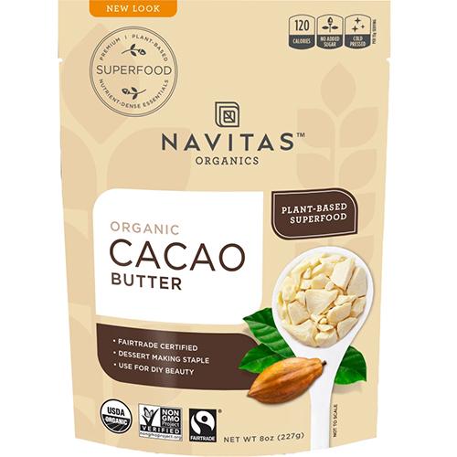 NAVITAS - ORGANIC CACAO BUTTER - 8oz