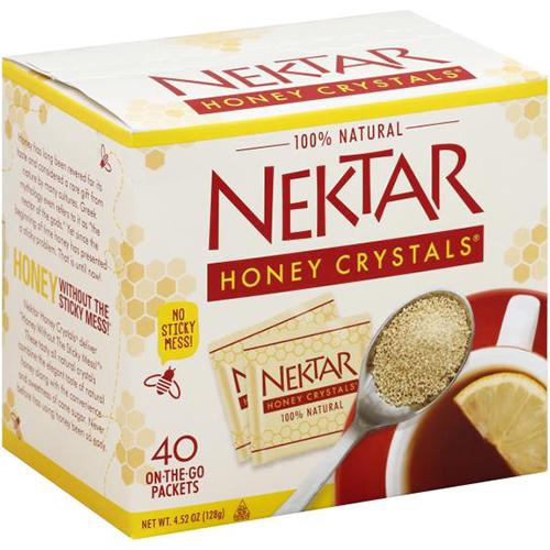 NEKTAR - 100% NATURAL HONEY CRYSTALS - 4.52oz (40PCS)