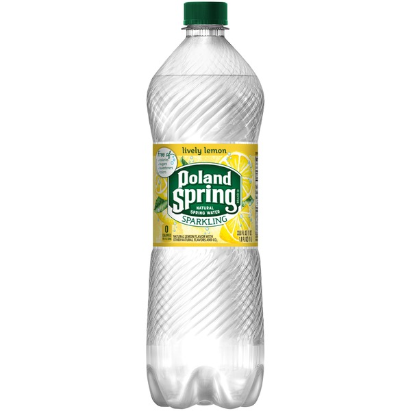 NESTLE - POLAND SPRING SPARKLING WATER - (Lemon) - 1L