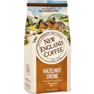 NEW ENGLAND COFFEE - GROUND COFFEE (Hazelnut Creme) - 10oz