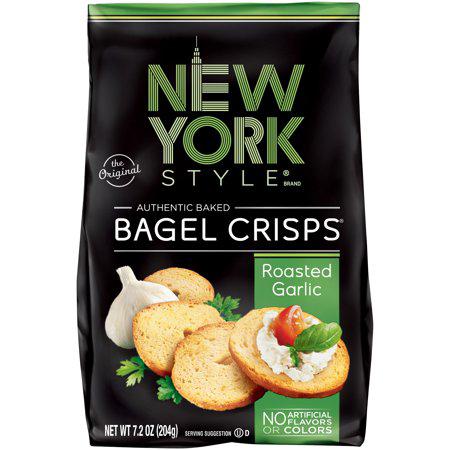 NEW YORK STYLE - BAGEL CRISPS - (Roasted Garlic) - 7.2oz
