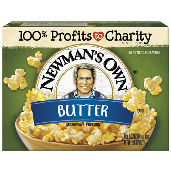 NEWMAN'S OWN - MICROWAVE POPCORN - (Butter) - 9.6oz