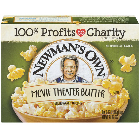 NEWMAN'S OWN - MICROWAVE POPCORN - (Movie Theater Butter) - 9.6oz