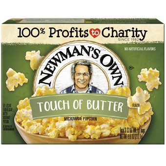 NEWMAN'S OWN - MICROWAVE POPCORN - (Touch of Butter) - 9.6oz