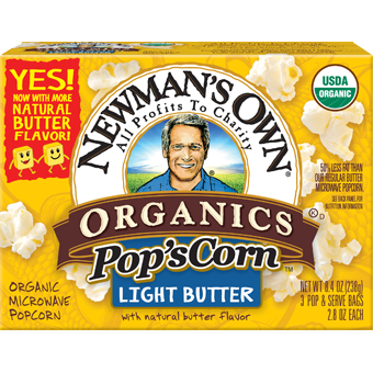 NEWMAN'S OWN - ORGANIC POPCORN - (Light Butter) - 9.9oz