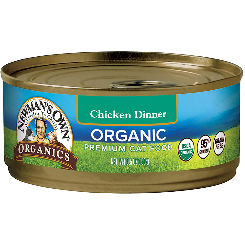 NEWMAN'S OWN - ORGANIC PREMIUM CAT FOOD - (Chicken Dinner) - 5.5oz