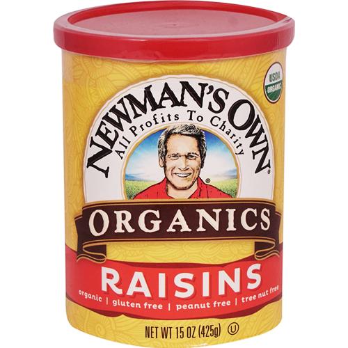 NEWMAN'S OWN - ORGANICS RAISINS - 15oz