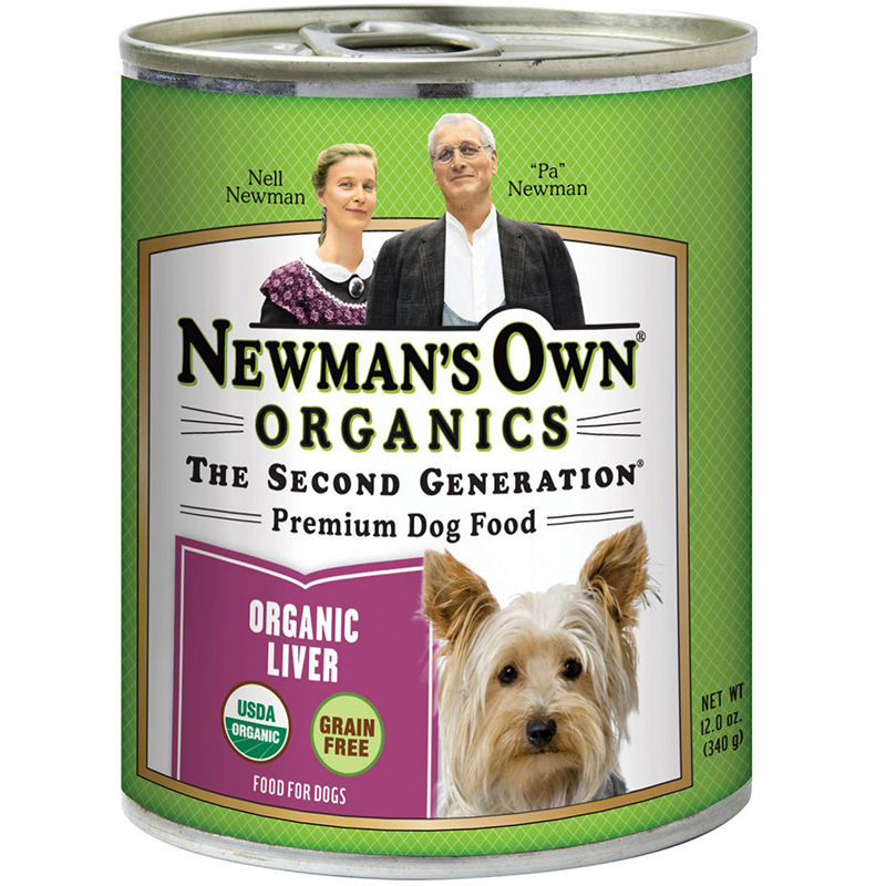 NEWMAN'S OWN ORGANICS - THE SECOND GENERATION PREMIUM DOG FOOD - (Organic Liver) - 12oz