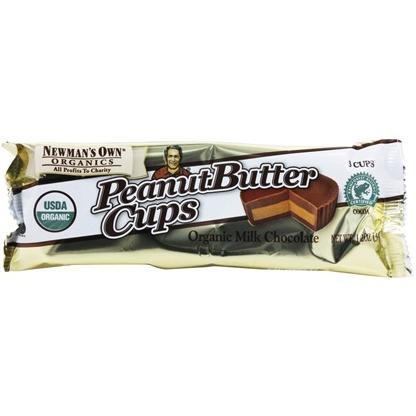 NEWMAN'S OWN - PEANUT BUTTER CUPS - (Organic Milk Chocolate) - 1.2oz