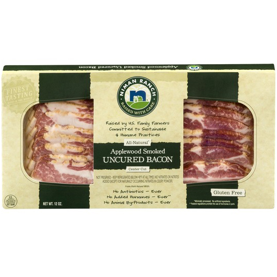 NIMAN RANCH - APPLEWOOD SMOKED UNCURED BACON - 12oz