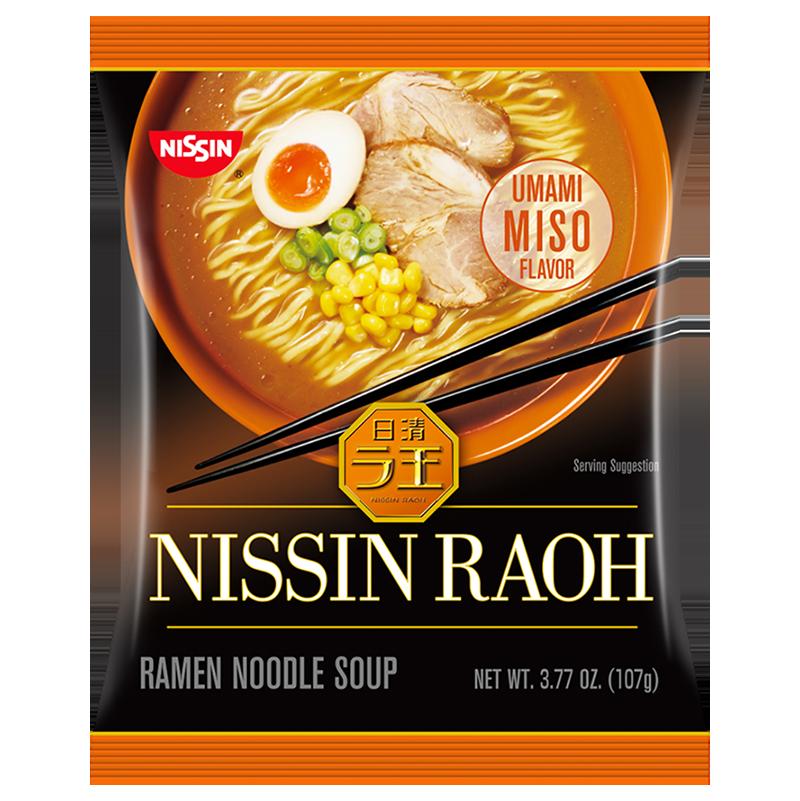 NISSIN - RAOH - RAMEN NOODLE SOUP - (Miso) - 3.77oz