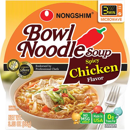 NONGSHIM - BOWL NOODLE SOUP - (Chicken) - 3.03oz