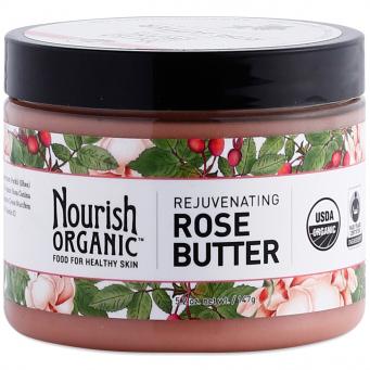 NOURISH ORGANIC - REJUVENATING ROSE BUTTER - NON GMO - GLUTEN FREE - VEGAN - 5.2oz