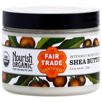 NOURISH ORGANIC - REJUVENATING SHEA BUTTER - NON GMO - GLUTEN FREE - VEGAN - 5.2oz