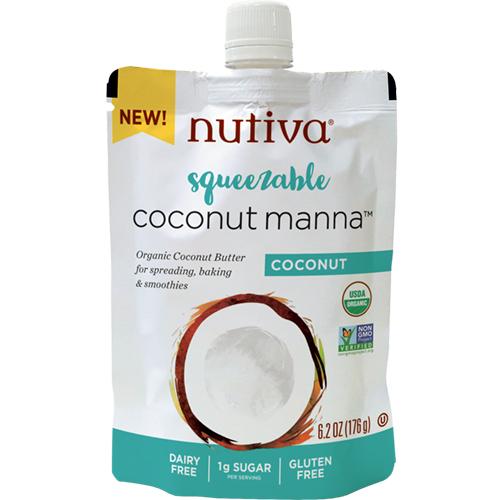 NUTIVA - COCONUT MANNA - (Coconut) - 6.2oz