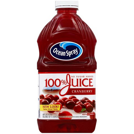 OCEAN SPRAY - NO SUGAR ADDED 100% JUICE CRANBERRY - 60oz