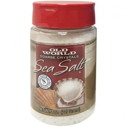 OLD WORLD - SEA SALT - (Coarse Crystals) - 4.4oz