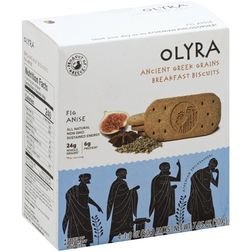 OLYRA - ANCIENT GREEK GRAINS BREAKFAST BISQUITS - (Fig Anise) - 7.05oz