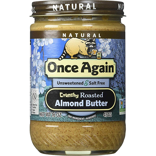 ONCE AGAIN - ALMOND BUTTER - (Crunchy Roasted) - 16oz