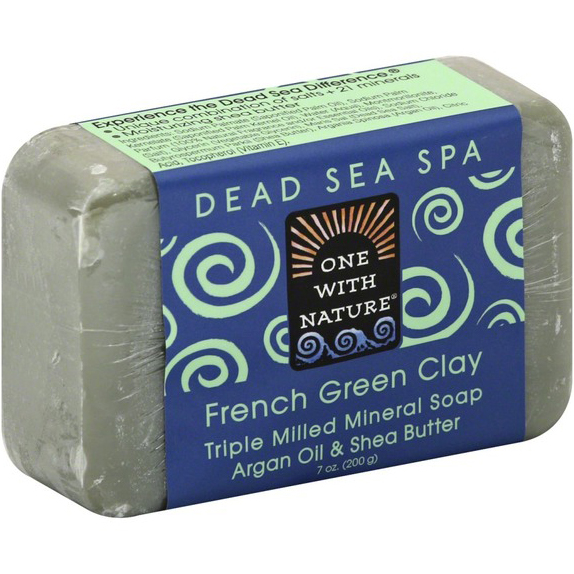 ONE WITH NATURE - DEAD SEA MINERAL SOAP - (French Green Clay) - 7oz