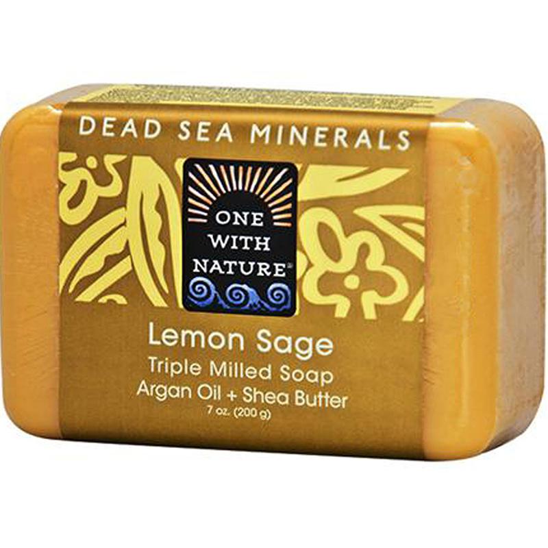 ONE WITH NATURE - DEAD SEA MINERAL SOAP - (Lemon Sage) - 7oz
