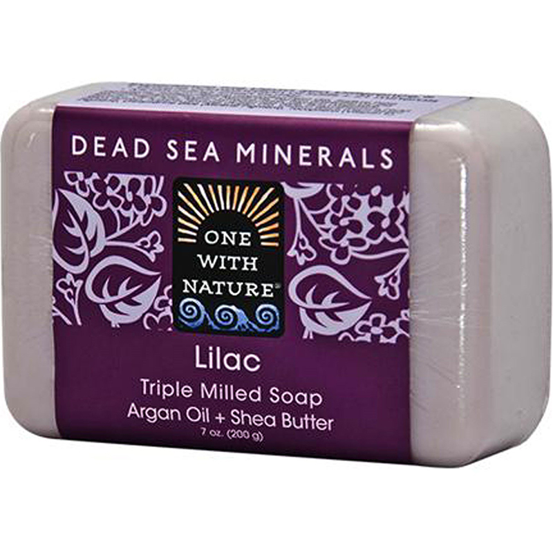 ONE WITH NATURE - DEAD SEA MINERAL SOAP - (Lilac) - 7oz