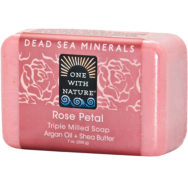 ONE WITH NATURE - DEAD SEA MINERAL SOAP - (Rose Petal) - 7oz