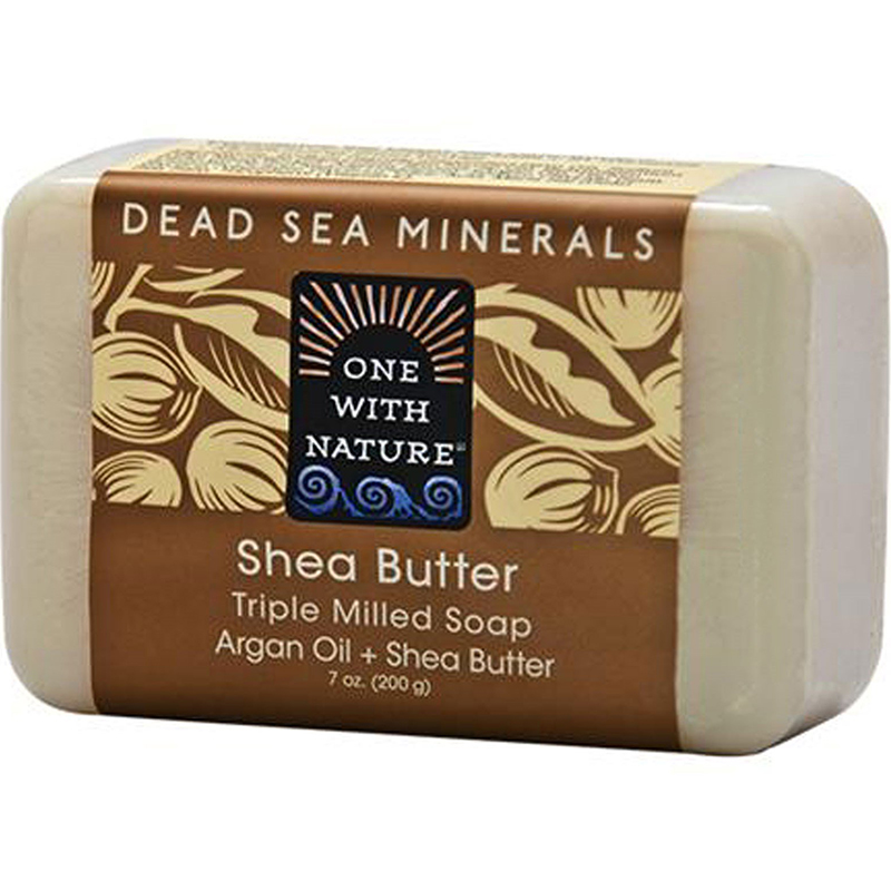 ONE WITH NATURE - DEAD SEA MINERAL SOAP - (Shea Butter) - 7oz