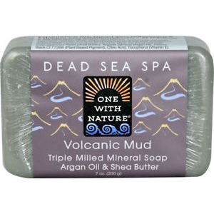 ONE WITH NATURE - DEAD SEA MINERAL SOAP - (Volcanic Mud) - 7oz