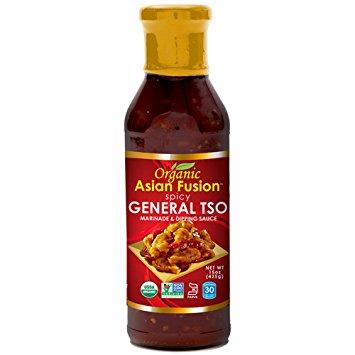 ORGANIC ASIAN FUSION - MARINADE & DIPPING SAUCE - ORGANIC - NON GMO - (General Tso / Spicy) - 15oz