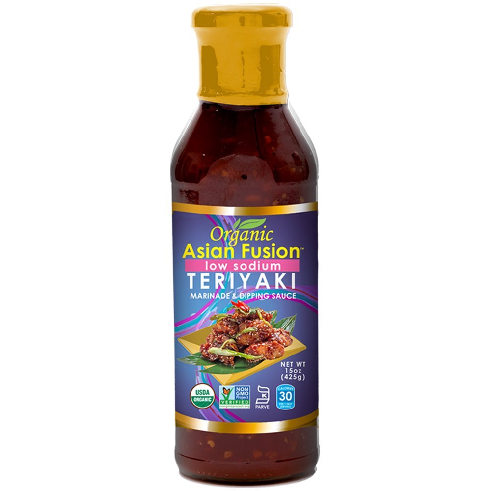 ORGANIC ASIAN FUSION - MARINADE & DIPPING SAUCE - ORGANIC - NON GMO - (Teriyaki / Low Sodium) - 15oz