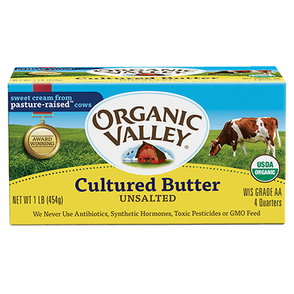ORGANIC VALLEY - CULTURED BUTTER - 1lb