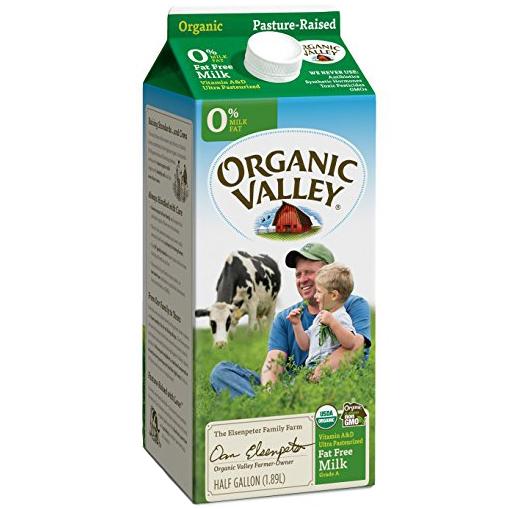 ORGANIC VALLEY - ORGANIC - (0% Milk Fat) - HALF GALLON