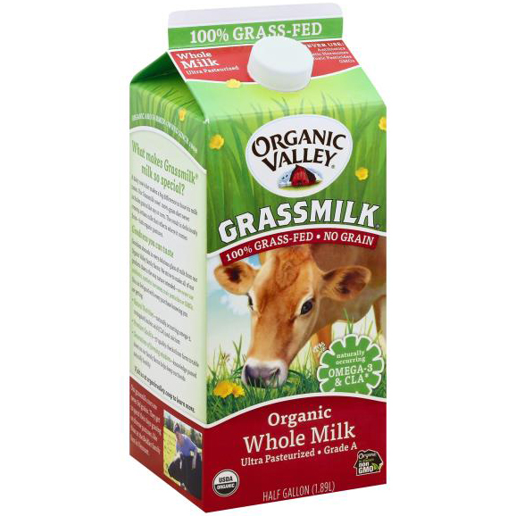 ORGANIC VALLEY - ORGANIC - (Grass Milk) - HALF GALLON