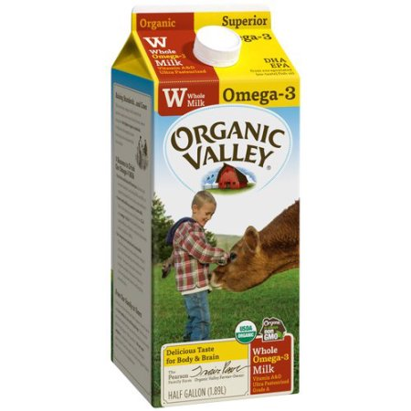 ORGANIC VALLEY - ORGANIC OMEGA3 - (Whole Milk) - HALF GALLON
