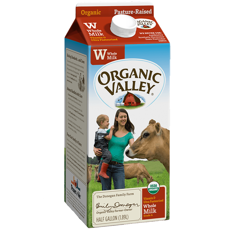ORGANIC VALLEY - ORGANIC - (Whole Milk) - HALF GALLON
