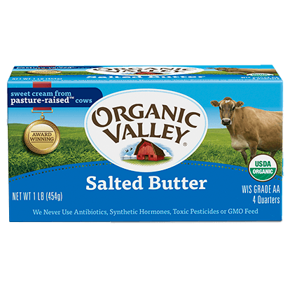 ORGANIC VALLEY - SALTED BUTTER - 1lb