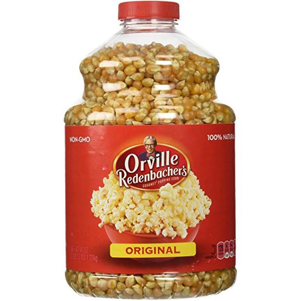 ORVILLE REDENBACHER'S - 100% NATURAL POPCORN - NON GMO - GLUTEN FREE - (Original) - 30oz