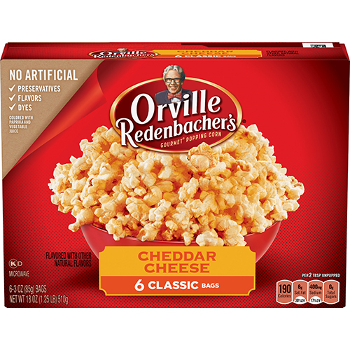 ORVILLE REDENBACHERS - NATURALS GOURMET POPPING CORN - (Cheddar Cheese) - 9.87oz