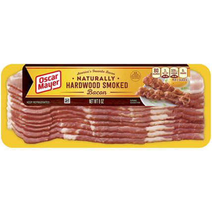 OSCAR MAYER - NATURALLY HARDWOOD SMOKED BACON - 8oz