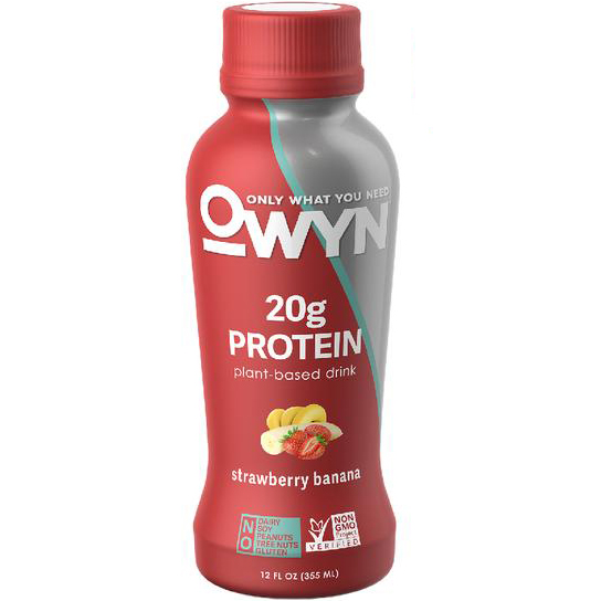 OWYN - 20g PROTEIN PLANT BASED DRINK - (Strawberry Banana) - 12oz