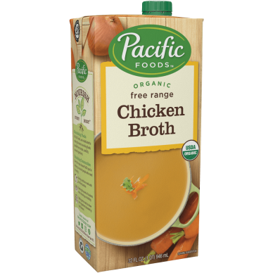 PACIFIC - FREE RANGE CHICKEN BROTH - 32oz