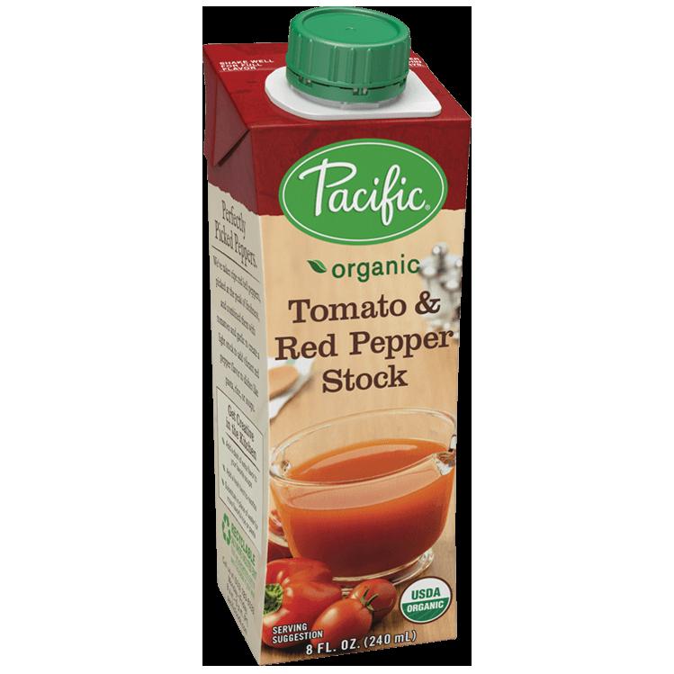 PACIFIC - ORGANIC TOMATO & RED PEPPER STOCK - 8oz
