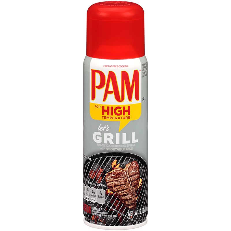 PAM - COOKING SPRAY (High Temperature Grill Oil) - 5oz