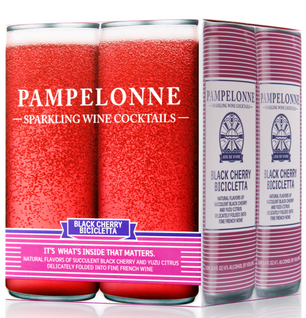 PAMPELONNE-SPARKLING WINE COCKTAILS - (Black Cherry Bicicletta) - 33.6oz(4pck)