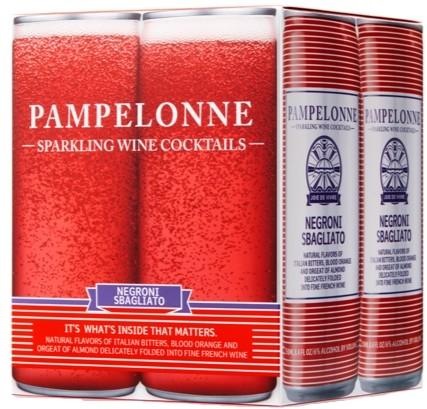 PAMPELONNE-SPARKLING WINE COCKTAILS - (Negroni Sbagliato) - 33.6oz(4pck)